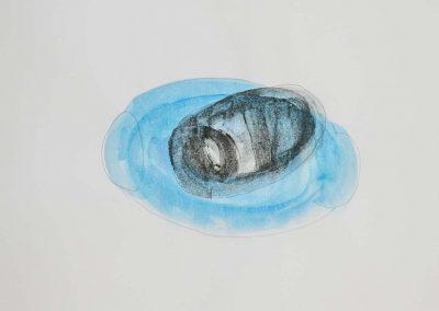 Yuka Oyama, Sketch for SurvivaBall Home Suits—Black (2020), water colour on paper, 21 x 29,7 cm. Photograph: Thomas Kierok