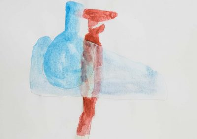 Yuka Oyama, Sketch for SurvivaBall Home Suits—Red (2020), water colour on paper, 21 x 29,7 cm. Photograph: Thomas Kierok